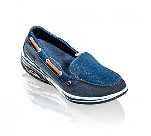 WalkMaxx Fitness Mokassins 2.0 Gr.36-42 Sandale Sommerschuhe Damen Freizeit Schuhe (37, Blau (Marineblau))