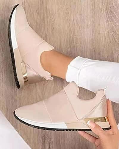 Aerlan Treaded Sole Trainers,Zapatos Deportivos al Aire Libre de Malla Transpirable-Pink_39,Calzado de Fitness para Trail Running