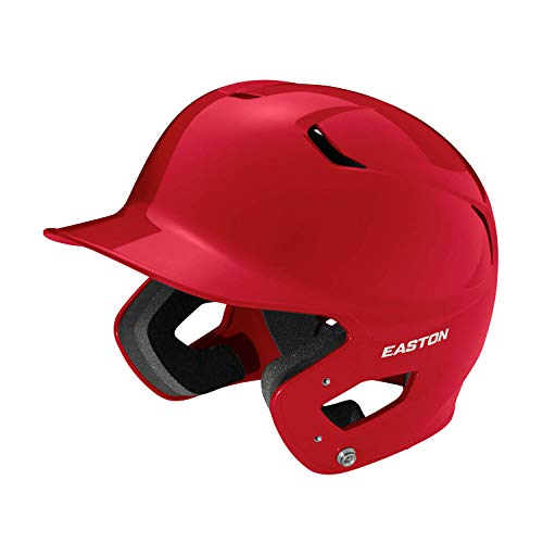 EASTON Z5 2.0 Batting Helmet   Baseball Softball   Junior   Red   2020   Dual-Density Impact Absorption Foam   High Impact Resistant ABS Shell   Moisture Wicking BioDRI Liner I Removable Logo
