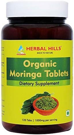 Herbal Hills Organic Moringa Tablets 120 Tablets Moringa Leaf Shigru Drumstick Leaf Moringa product image