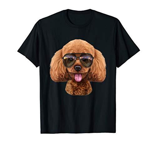 Zwergpudel Hund Tragende Swag-Flieger-Sonnenbrille T-Shirt