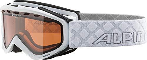 ALPINA SPICE Skibrille, Unisex– Erwachsene, white, one size