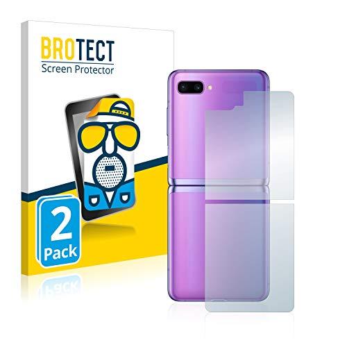 BROTECT Protector Pantalla Anti-Reflejos Compatible con Samsung Galaxy Z Flip (Trasero) (2 Unidades) Pelicula Mate Anti-Huellas