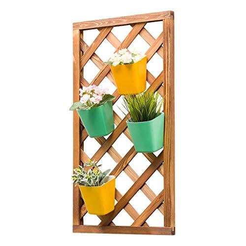 KEWEI Blumenständer Blumenständer Holzwand Wabenständer Blumenständer Blumenständer Indoor Balkon faltbar Blumenständer 3 einfache Stile (Farbe: C), Größe: C Regal, A