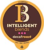 Intelligent Blends Dark Roast Decaf Coffee, 100ct. Recyclable Single Serve Decaf Coffee Pods - 100% Arabica Coffee California Roasted, Keurig Decaf Coffee K Cups Compatible Including 2.0