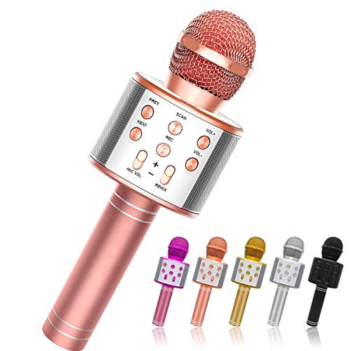 AYRUAN Fun Toys for 3-12 Year Old Girls, Microphone for Kids Karaoke Microphone Birthday for 5-12 Year Old Boy Toy Microphone for Kids