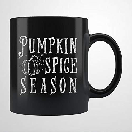 Taza de café de cerámica con diseño de calabaza, ideal para otoño y otoño, ideal como regalo de Navidad y cumpleaños para mujeres y hombres