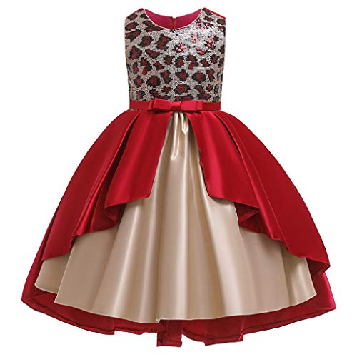 LuckyGirls Élégante Fille Robes Princesse Robes De Mariée Carnavals Filles Enfants Party Dress Casual Party Dress sans Manches