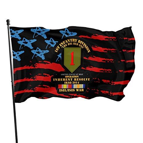Alive Inc Amerikanische Flagge von den USA Veteranen besaßen 1. Infanteriedivision Krieg W ISIS SVC OIR Flagge 3x5 Ft
