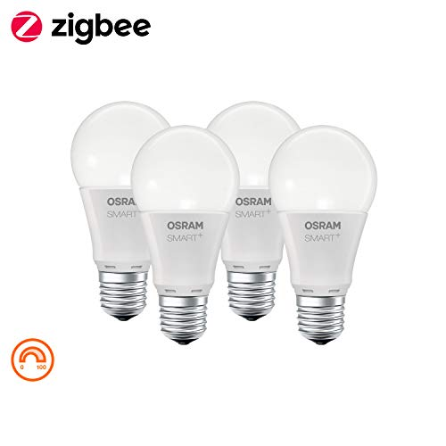 Osram SMART+ - 4x Ampoule LED Connectée E27 Zigbee - Equivalent 60W...