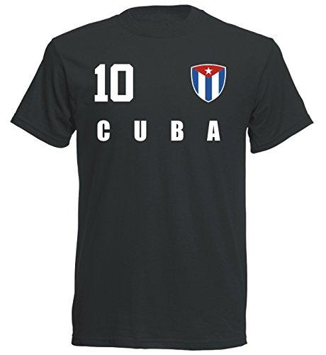 Kuba WM 2018 T-Shirt Trikot - schwarz ALL-10 - S M L XL XXL (L)