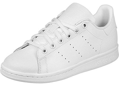 adidas Stan Smith J, Scarpe da Ginnastica Bambino, Bianco (White/Ftwr White/Ftwr White), 38 2/3 EU (5.5 UK)