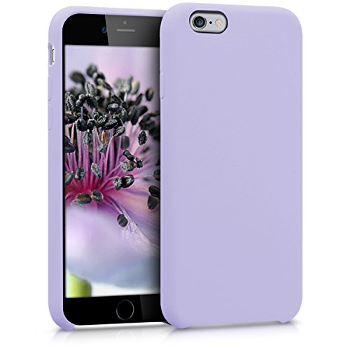 kwmobile TPU Silicone Case Compatible with Apple iPhone 6 / 6S - Case Slim Protective Phone Cover with Soft Finish - Lavender