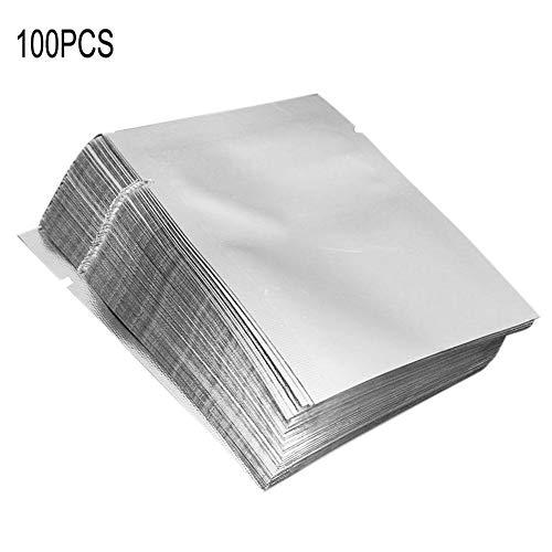 """25-200pcs 3/""""x4/"""" Argento Alluminio Sigillante Sottovuoto Sacchetto di conservare il cibo fresco"""