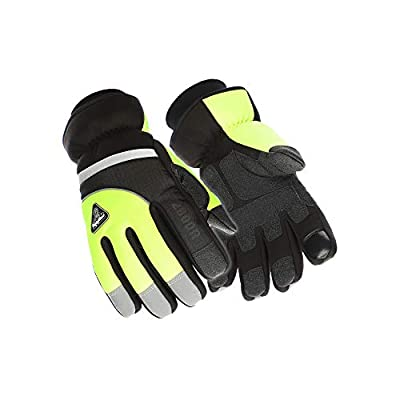 RefrigiWear Freezer Edge Gloves Thinsulate Insulated with Touchscreen Forefinger (High Visibility Lime, X-Large)