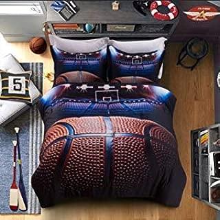 SHINICHISTAR Sports Full Bedding Set, Basketball Comforter Set Gift Bedding