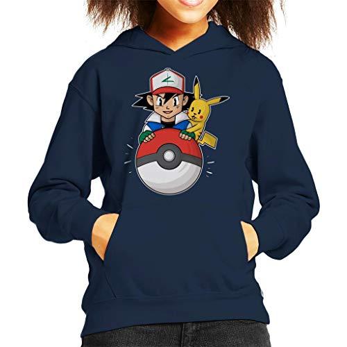 My Pokeball Ash and Pikachu Kid's Hooded Sweatshirt