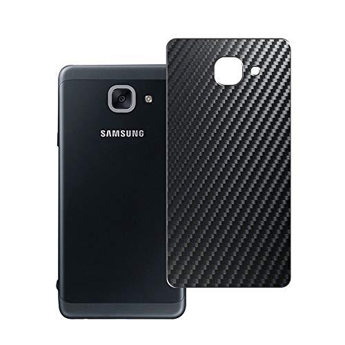 Vaxson 2 Unidades Protector de pantalla Posterior, compatible con Samsung Galaxy J7 Max SM-G615F / On Max, Película Protectora Espalda Skin Cover - Fibra de Carbono Negro