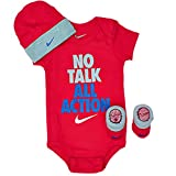 Nike Baby Bodysuit, Hat and Booties 3 Piece...