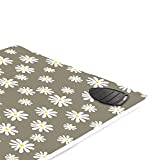 Encasa Homes Ironing Mat/Pad (Large 47 x 28 inch) with 3mm Padding & Silicone Iron Rest for Steam Pressing on Tabletop or Bed - Heat Resistant, Portable, Quilting & Travel Blanket - Daisy Grey