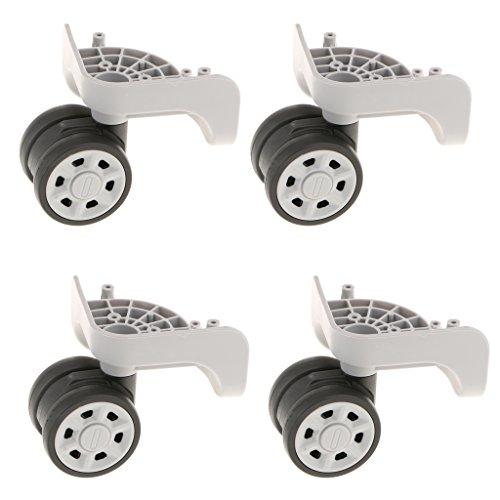 Sharplace Universal Ersatz Räder Rollen für Reisekoffer, 4er-Pack, Ø 75mm - Grau