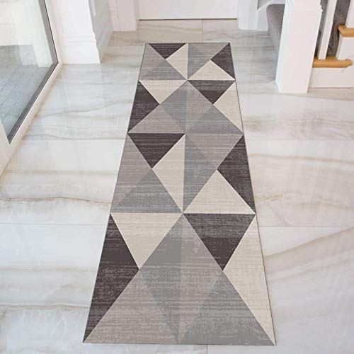 GJIF Geometria Tappeto Corridoio Passatoia, Design Moderno Morbido Ingresso Tappeti for Cucina Scala Sala, Larghezza 60cm/ 80cm/ 90cm/ 100cm/ 120cm(Size:90x200cm)