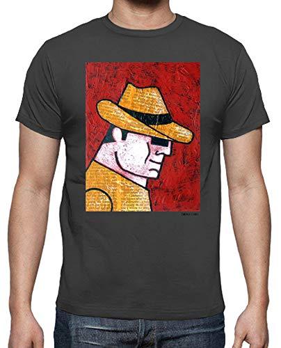 latostadora - Camiseta Espia Cadafalch para Hombre Gris ratón XXL