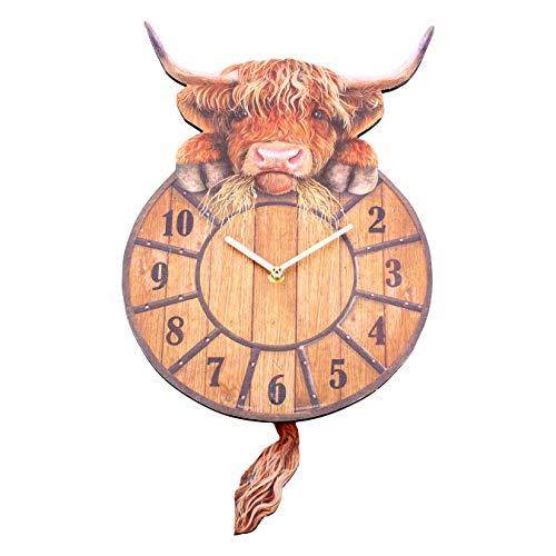Nemesis Now Highland Tickin' Uhr, 25 cm, MDF, Rot