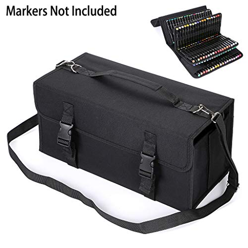 BTSKY New 171 Slots Marker Case Lipstick Organizer-Canvas Markers Holder for for Primascolor Markers...