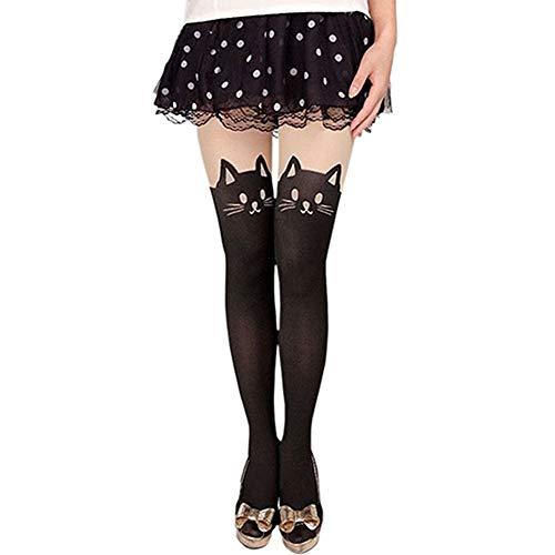 Bonamana Anime Sailor Moon Luna Katze Nette Enge Printing Socken Cosplay Kostüm Strumpfhosen, S, Cat