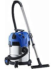 Nilfisk Multi II 22 INOX EU nat-/droogzuiger, voor reiniging binnen en buiten, 22 liter inhoud, 1200 W ingangsvermogen, 230 V (blauw)