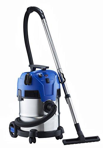 Nilfisk Multi II 22 INOX EU Nass-/Trockensauger, für die Reinigung im Innen- & Außenbereich, 22 Liter Fassungsvermögen, 1200 W Eingangsleistung, 230 V (blau)