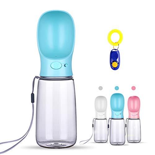 DryMartine Tragbare Haustier Wasserflasche Hund Katze Trinkflasche,Pet Travel Water Drink Flasche (550ml, Blau)