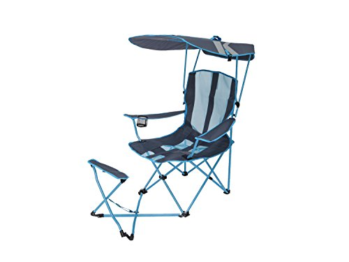 SwimWays Kelsyus Original Canopy Chair with Ottoman - Foldable Chair for...