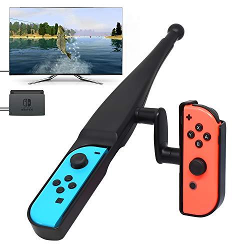 YUANHOT Fishing Rod for Nintendo Switch Joy-Con New Game, Fishing Bass Kit for Switch Joy Cons Controller Bass Pro Shops - The Strike Bundle