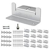 CMYYANGLIN Solar Panel Mounting Brackets Z Bracket, with Nuts and Bolts,Suitable for 50W to 150W Solar Panels on RV,Boats,Motorhome, Cabins, Sheds, Garages,Off Grid, Silver Color, 4 Units (16PCS)