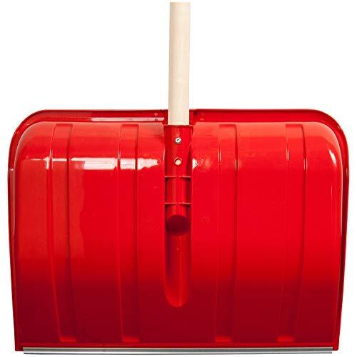 SHW-FIRE 59026 Schneeschieber Schneeschaufel Kunststoff 50 cm breit mit rundem Stiel Holz 130 cm lang - 3
