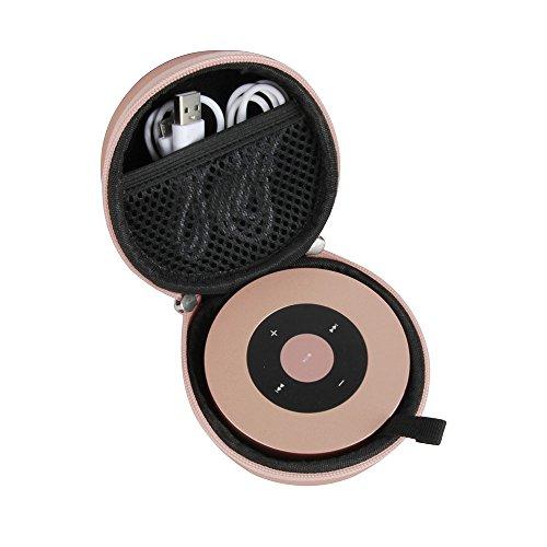 Hermitshell Hard Travel Case fits XLEADER/Nubwo SoundAngel (2 Gen) 5W Touch Bluetooth Speaker (Rose Gold)