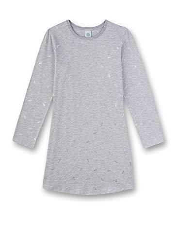 Sanetta Mädchen Sleepshirt Nachthemd, Grau (grau 1646), (Herstellergröße:128)