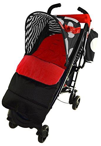 Fußsack/COSY TOES kompatibel mit Maclaren Quest Sport Kinderwagen Fire Rot