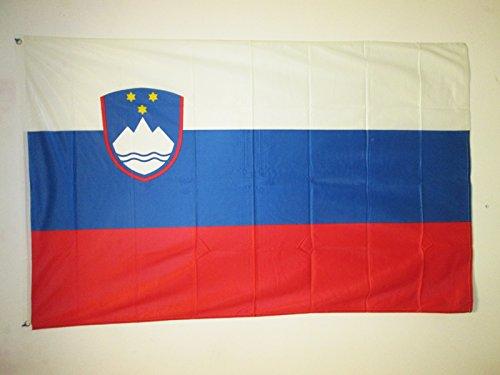 AZ FLAG Flagge SLOWENIEN 150x90cm - SLOWENISCHE Fahne 90 x 150 cm Aussenverwendung Metallösen - flaggen Top Qualität