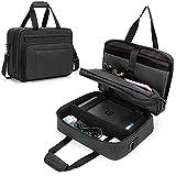 SAMDEW Doppellagige Aufbewahrungs Tasche für Tragbare Mobile Drucker, Kompatibel mit HP Tango/Tango X, HP Officejet 250/200, Drucker Trage Tasche mit Laptop Schicht(bis zu 15,6