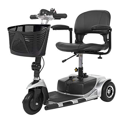 Vive 3-Wheel Mobility Scooter - Electric Powered Mobile Wheelchair Device for Adults - Folding,...