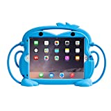 CHIN FAI Kids Case for iPad 10.2 8th Gen (2020)/7th Gen (2019) - Fits iPad Air 3 / iPad Pro 10.5, Shockproof Silicone Handle Stand Case with Built-in Apple Pencil Holder (Blue)