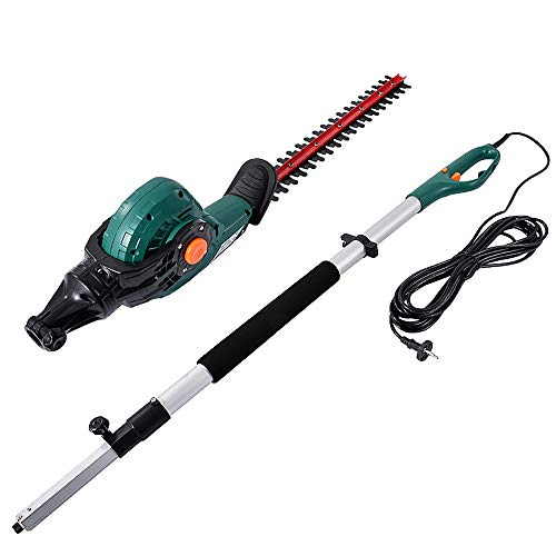 Lowest Price! CGOLDENWALL Telescopic Electric Hedge Trimmer Multi-Angle Corded Hedge Shear Telescopi...