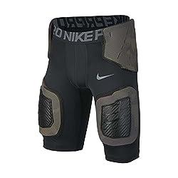 cheap Nike Pro Hyper Strong Core Boys Football Shorts Black / Dark Gray / Cream Gray Size X-Large