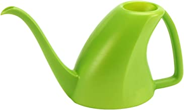 MyLifeUNIT Plastic Watering Can, Indoor Mini Watering Pot for Home Decor, 1 Quart (Green)