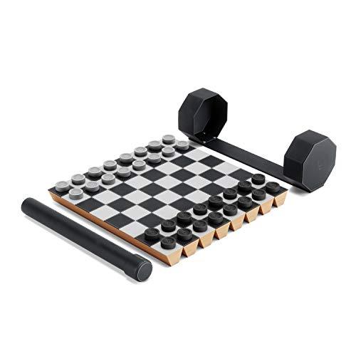 Umbra Rolz Jeu d'échecs et Dames enroulables avec boîte de Rangement