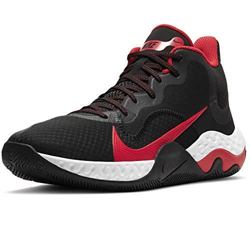 Nike Unisex Renew Elevate Basketball Shoe Basketballschuhe, Black/University RED-White, 42 EU