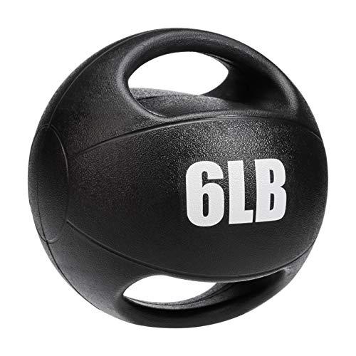 AmazonBasics Medicine Ball with Handles, 6-lb
